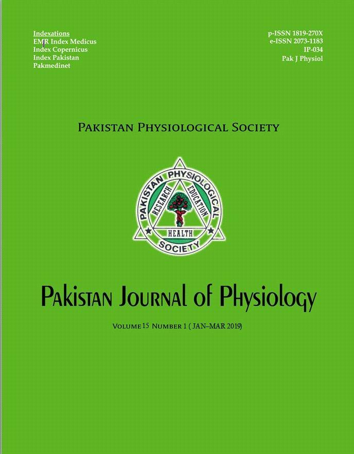 Pak J Physiol 2019;15(1)