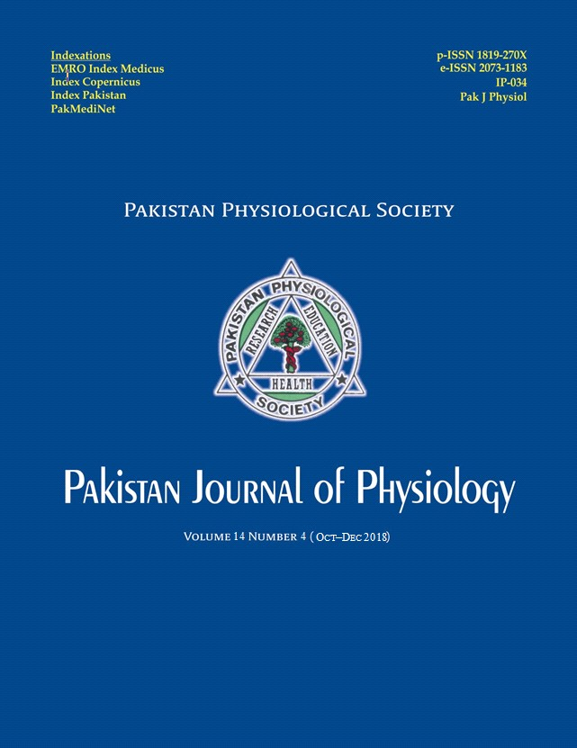 Pak J Physiol 2018;14(4)